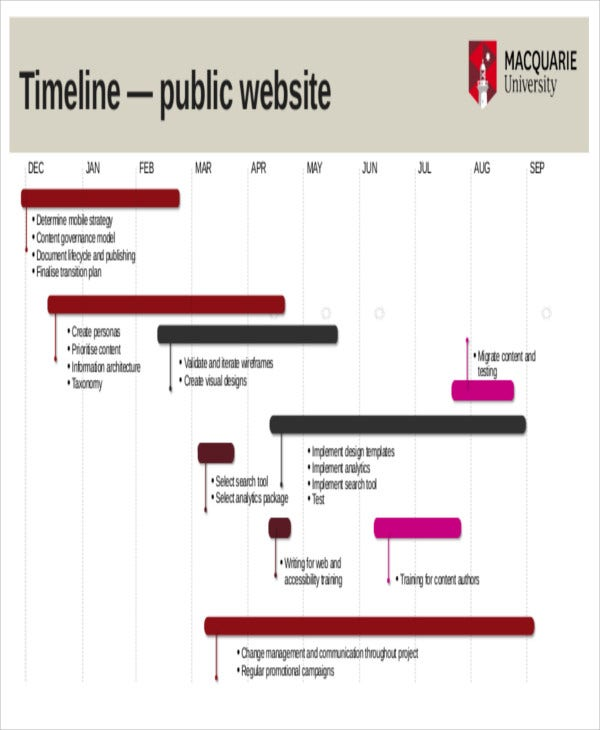 website project plan timeline