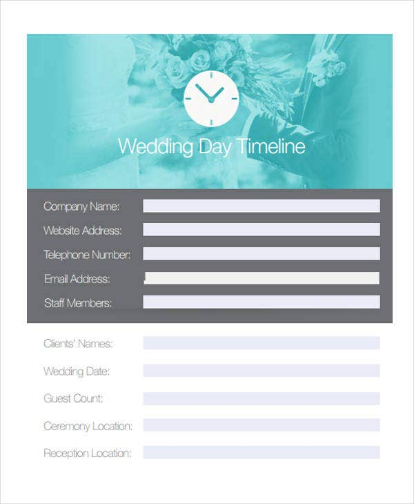 wedding day timeline1