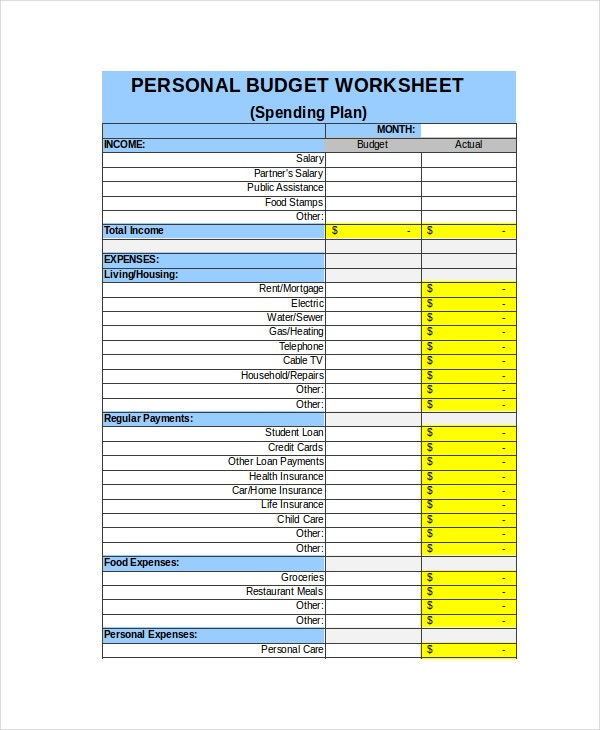 Weekly Expense Sheet Weekly Budget Free Budget Spreadsheet For