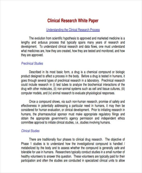 white paper for clinical research