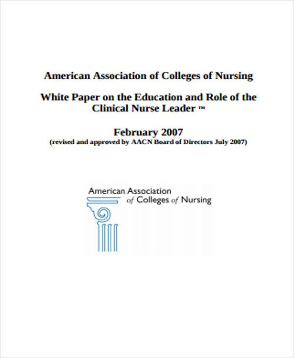 white paper for nursing college