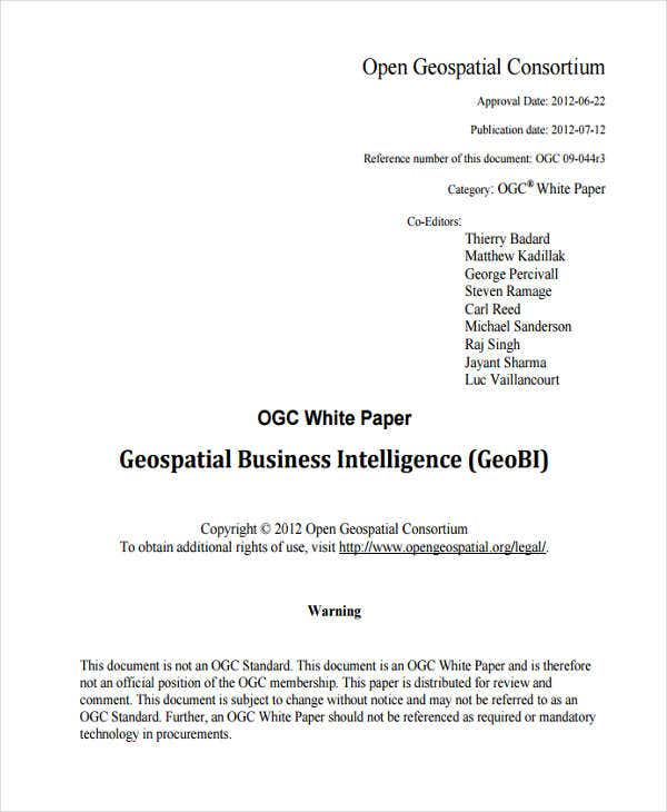 49 white paper templates free premium templates white paper on business intelligence friedricerecipe Gallery