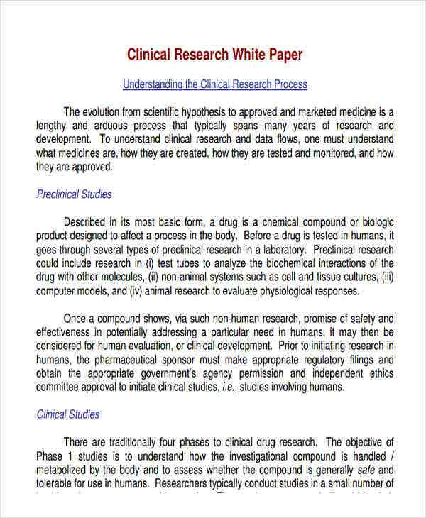 white paper on clinical research1