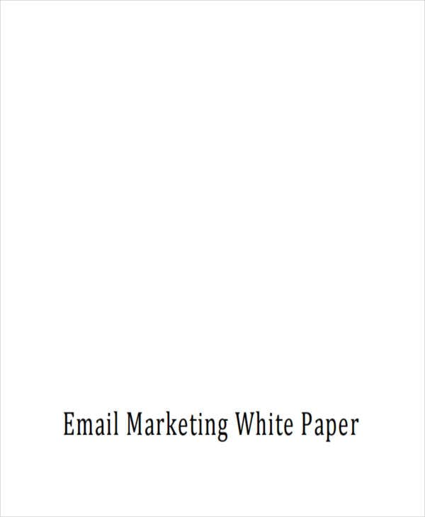 white paper on email marketing