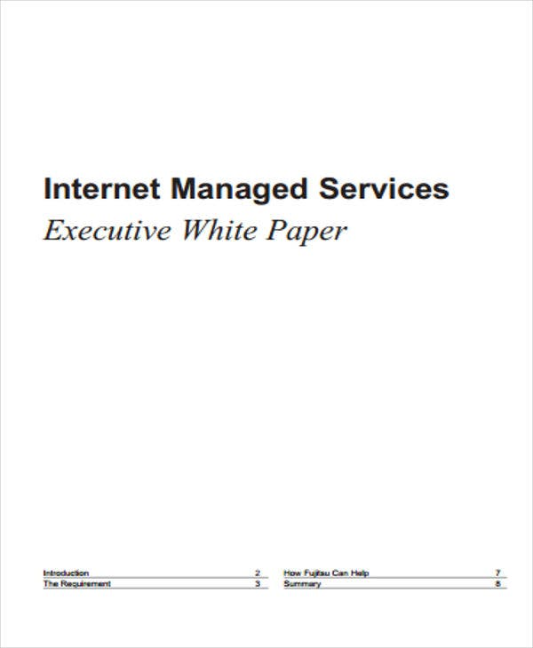 white paper on executive internet
