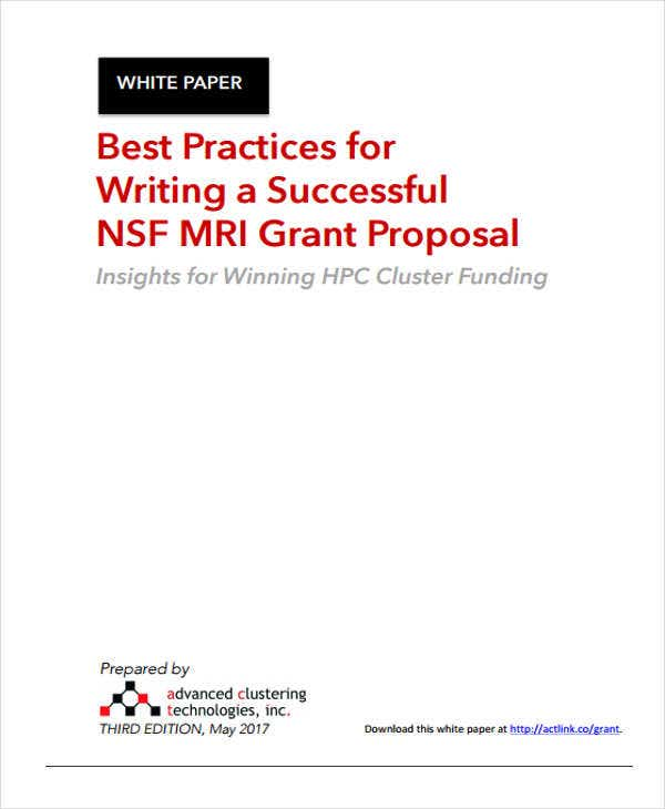 white paper on grant proposal