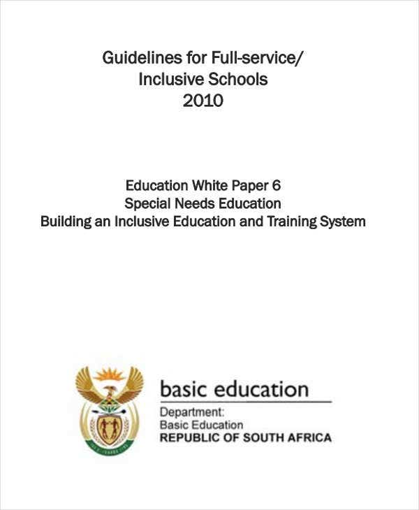 white paper on inclusive education
