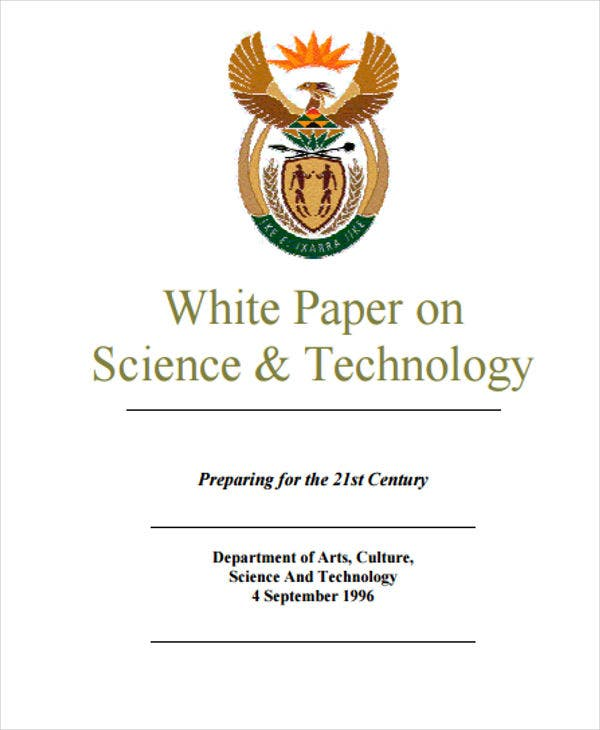 white paper on science and technology1