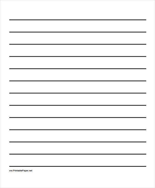 25 Free Lined Paper Templates – Wide Ruled Paper Printable