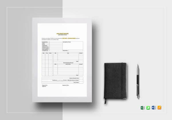 work-order-invoice-template