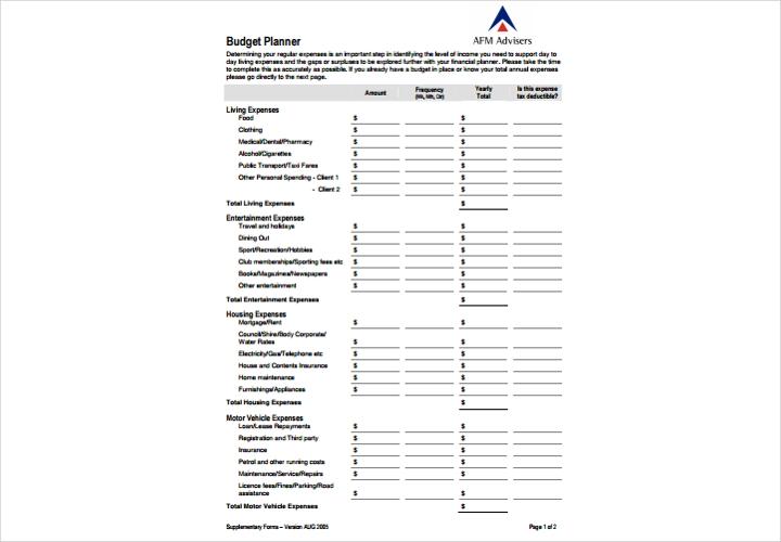 year budget plan