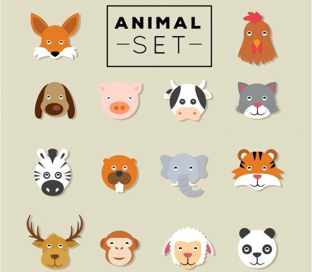Animal Heads Set