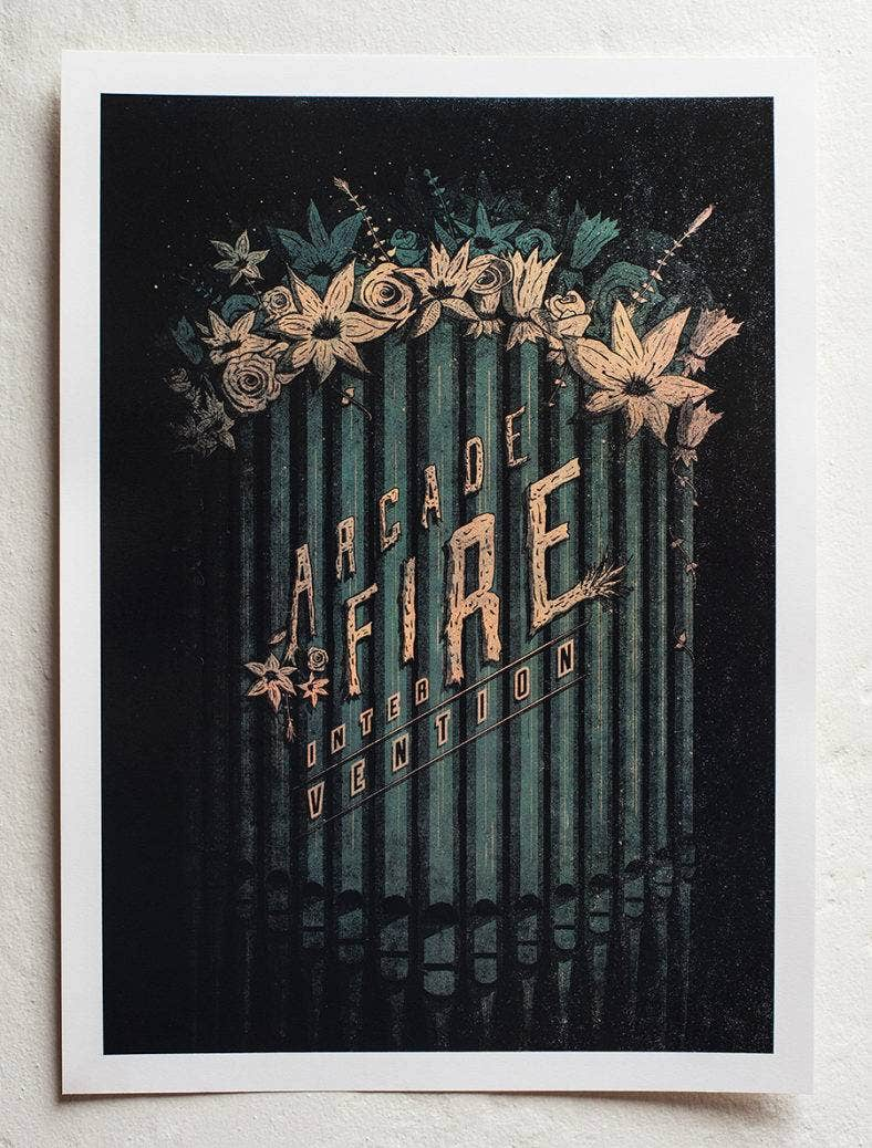 Arcade Fire Screenprint Poster