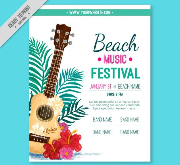 Beach Music Festival Flyer Invite