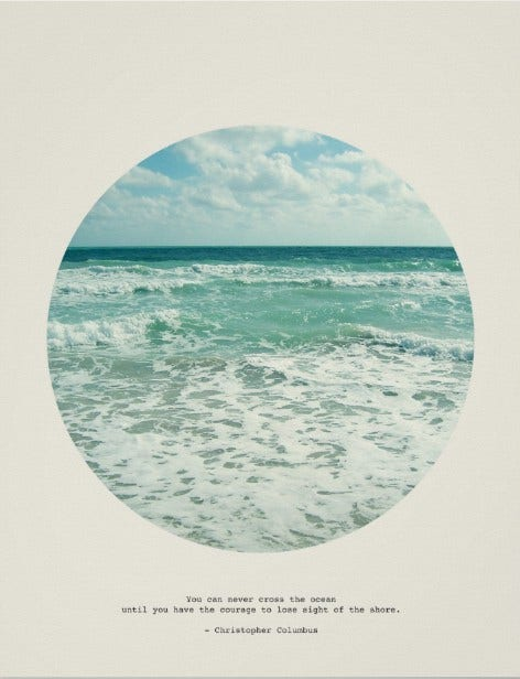 Beach Typography Wall Art Poster