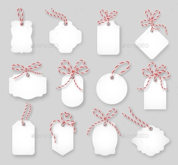 Blank Gift Tag Mock-up
