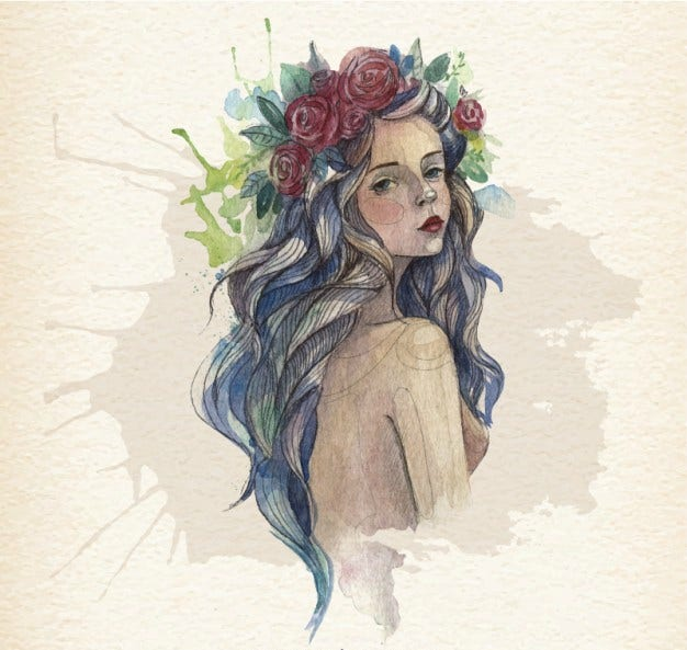 Bohemian Girl Illustration