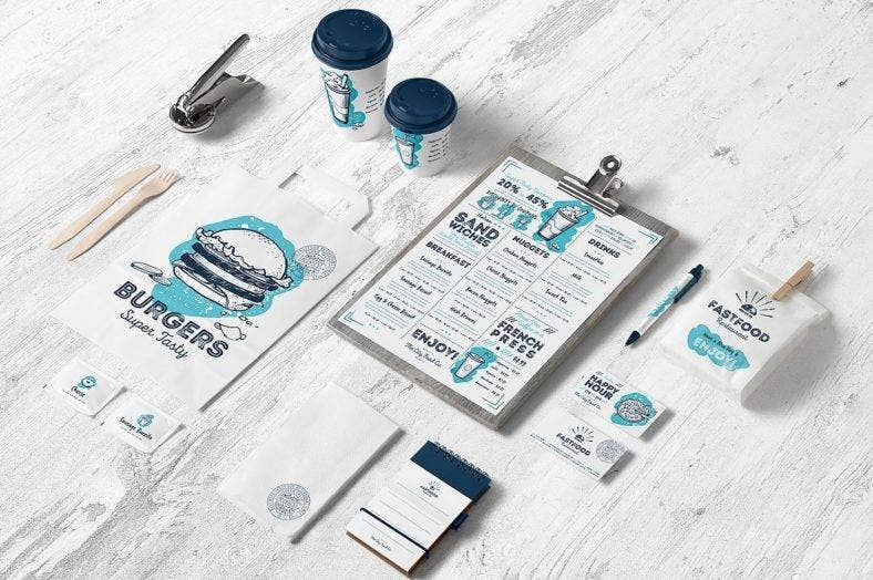 Burger Cafe Branding Design