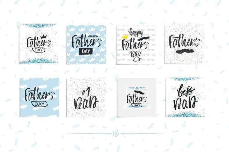 Father's Day Lettering Set