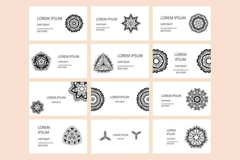 Mandala Business Cards