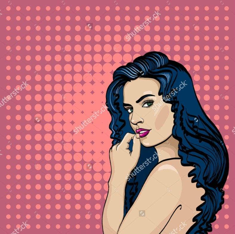 Woman Color Pop Illustration