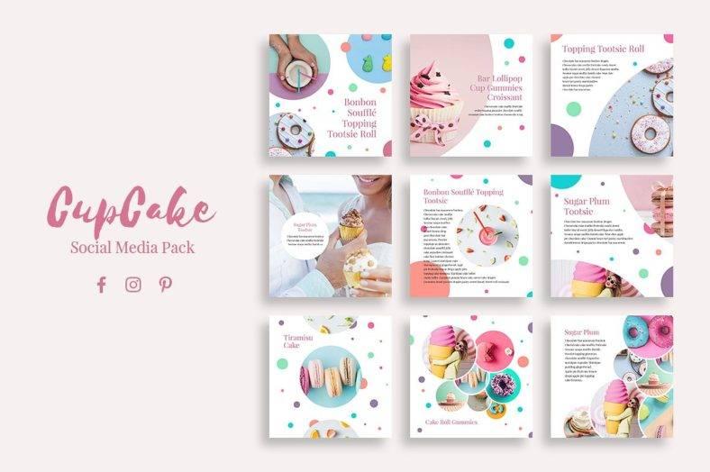 Cupcake Social Media Pack