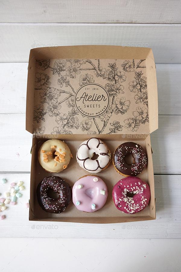 Doughnut Branding Mockup