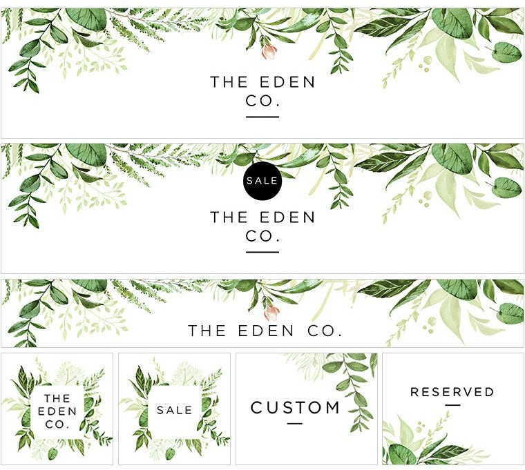 Eden Website Banner Templates