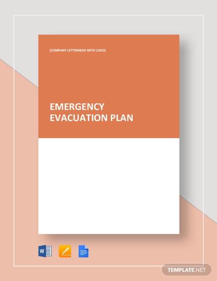 Simple Emergency Evacuation Plan Template