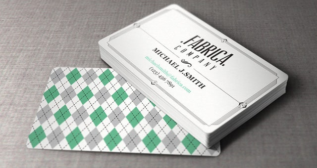 Retro Fabric Business Card