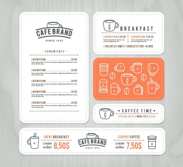 Flat Cafe Branding Identity