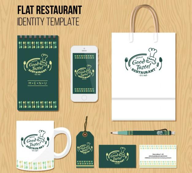 Flat Restaurant Branding Template