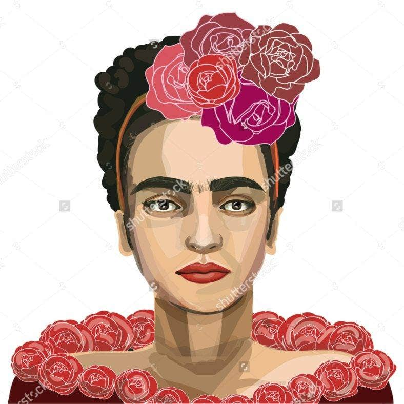 Frida Kahlo Digital Portrait