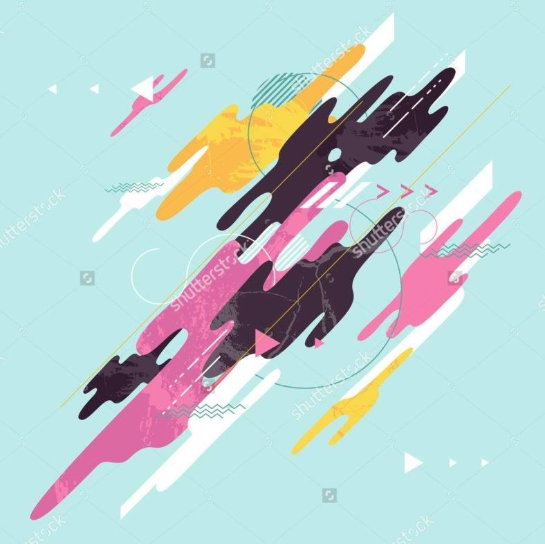 Minimalist Geometric Abstract Illustration
