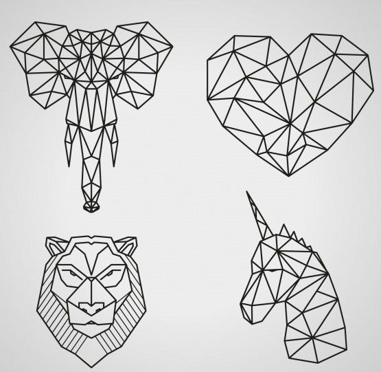 Geometric Animal Illustrations