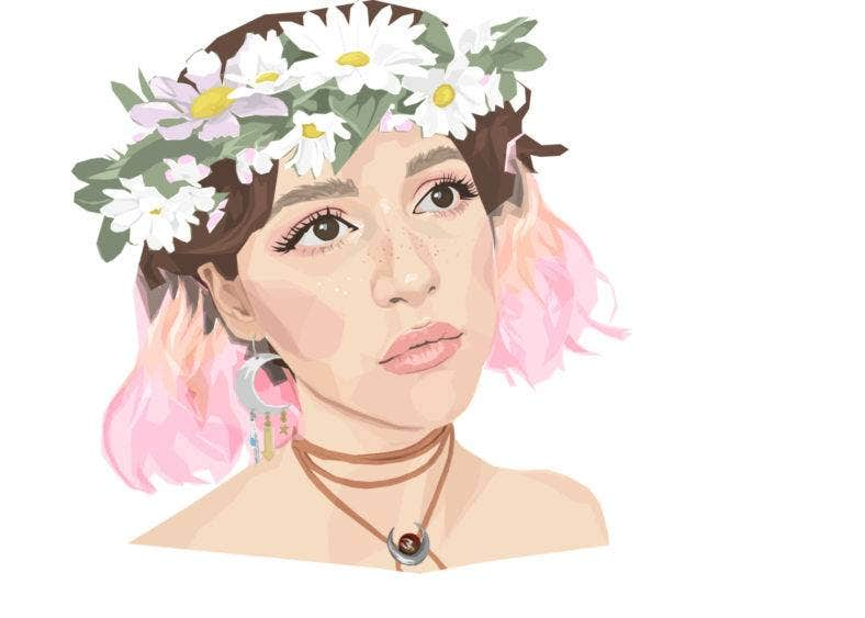 Pink-haired Bohemian Portrait