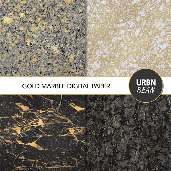 Gold Marble Texture Set