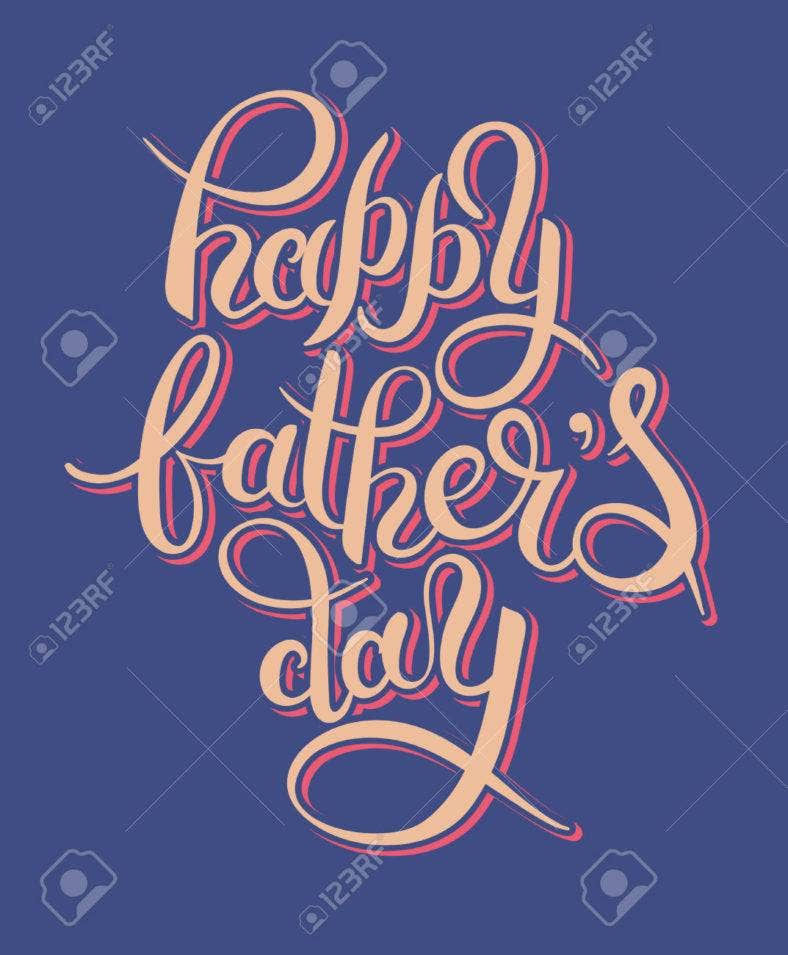 Happy Father's Day Handwritten Greeting