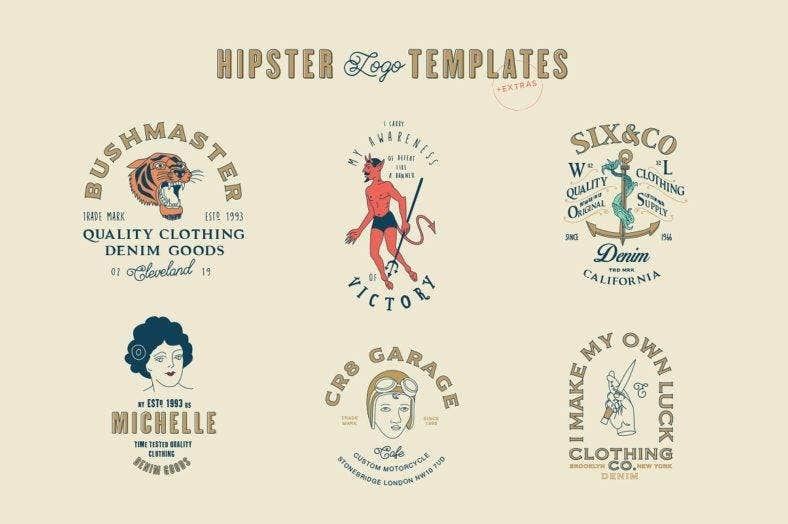 Hipster Logo Bundle