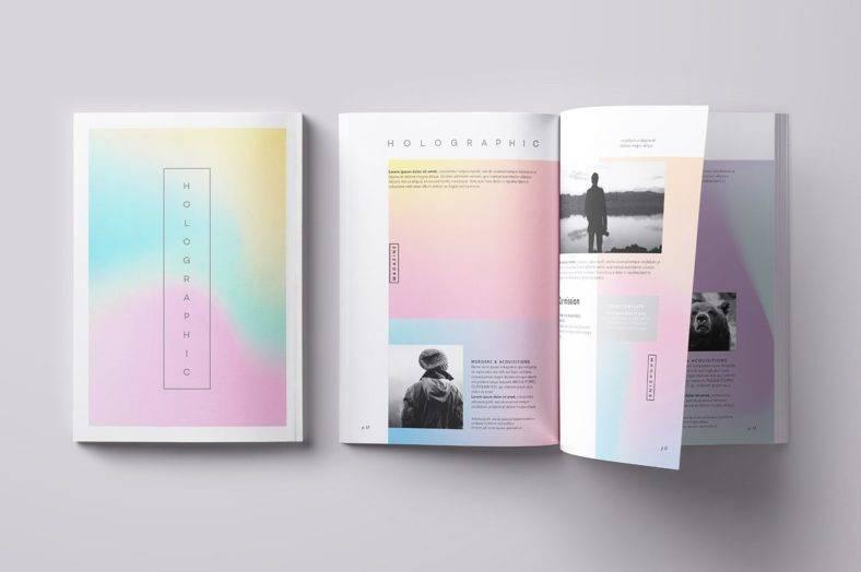 Holographic Magazine Texture