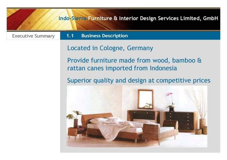 Interior Design Business Plan PDF