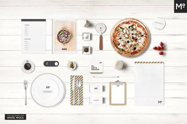 Italian Restaurant Branding Mockup