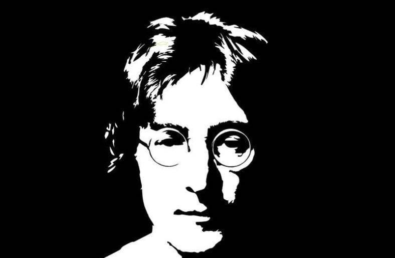 John Lennon Stencil Portrait