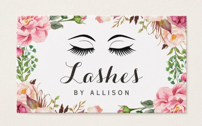 Floral Business Card with Script
