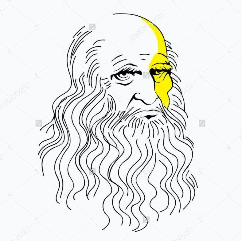 Leonardo da Vinci Illustration