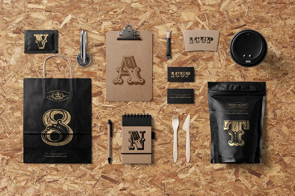 Luxury Cafe Branding Mockup