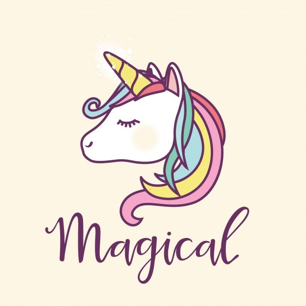 Magical Unicorn Illustration