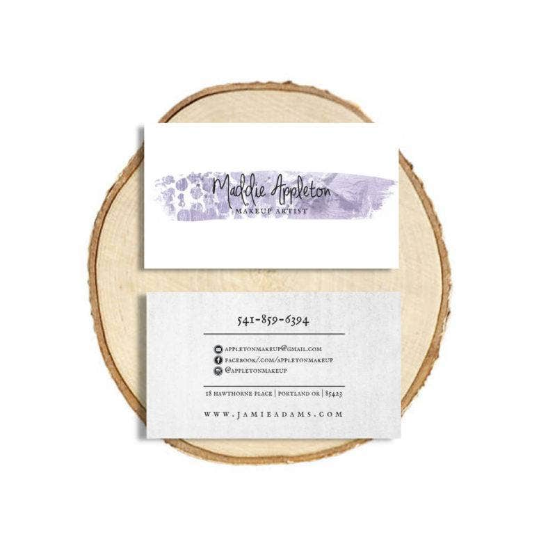 Make-up Artists Business Card Font