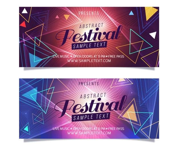 Website banner templates free premium templates music festival banner maxwellsz