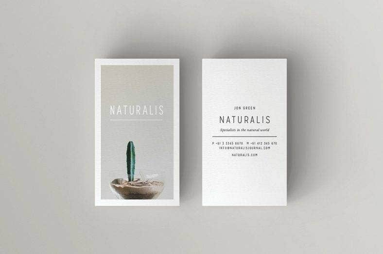 Natural Business Card Template